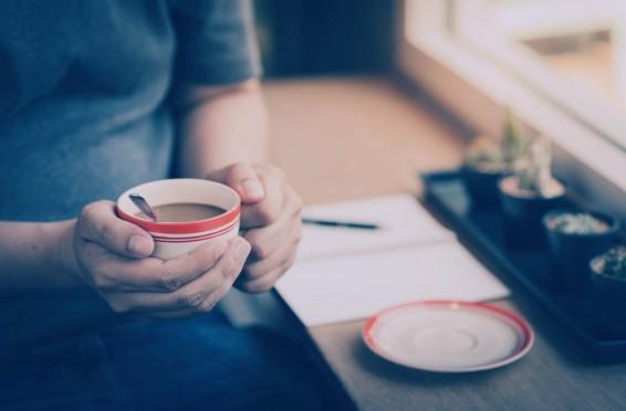 Man enjoying coffee and tranquility