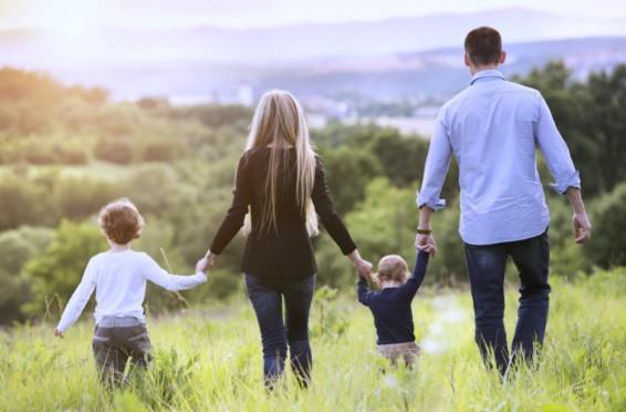 Happy balanced family life